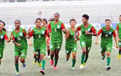সাফ অনূর্ধ্ব-১৫ নারী ফুটবলে ভারতকে ৩-০ গোলে হারিয়েছে বাংলাদেশ